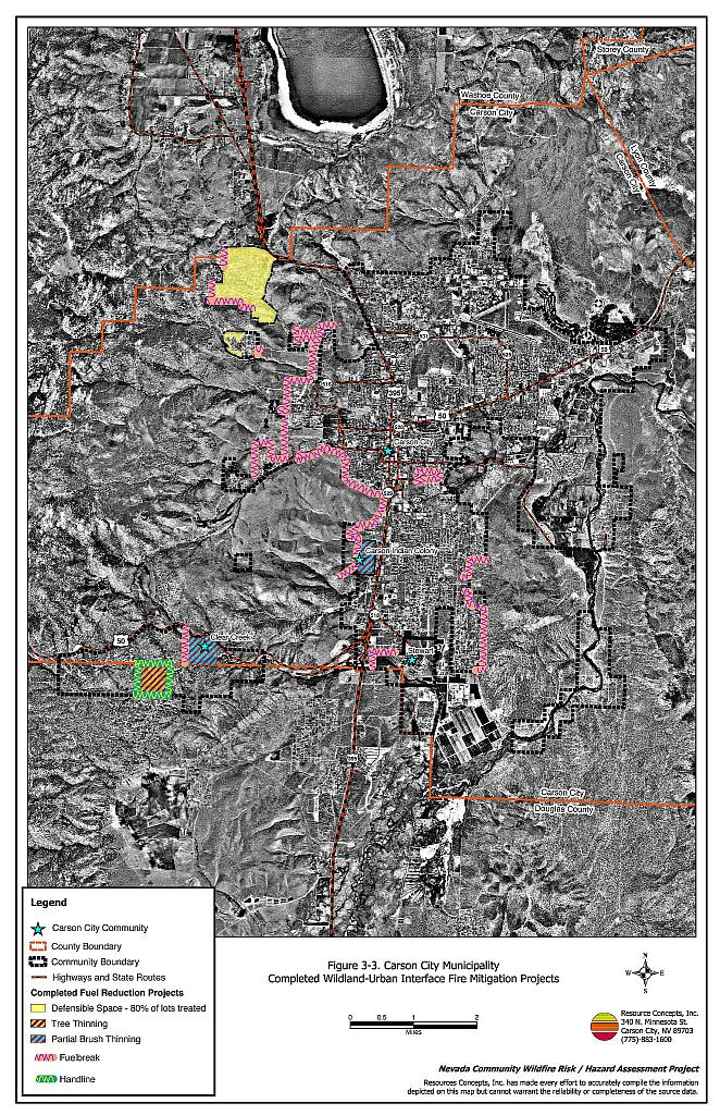 3 0 Description Of The Municipality - Carson City Fire Plan - Nevada