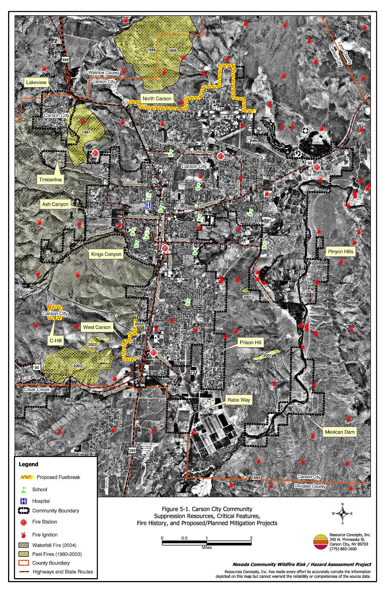 50 Carson City Carson City Fire Plan Nevada Community Wildfire