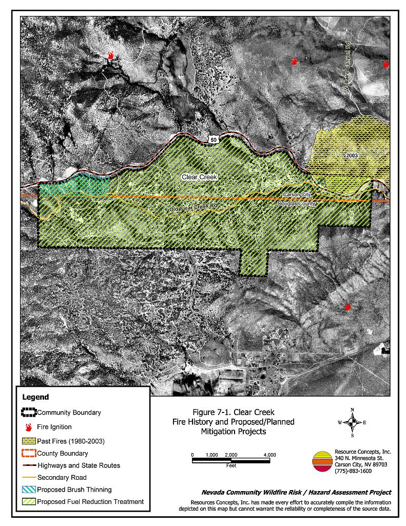 7 0 Clear Creek - Carson City Fire Plan - Nevada Community Wildfire