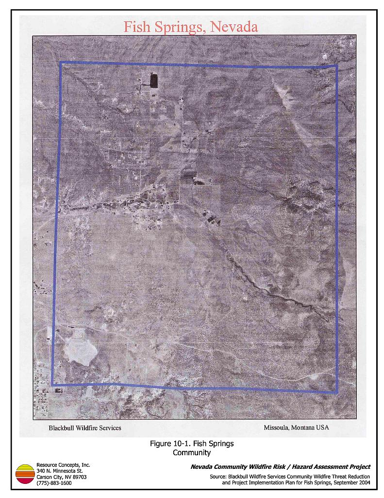 10 0 fish springs douglas county fire plan nevada for Fish springs nevada