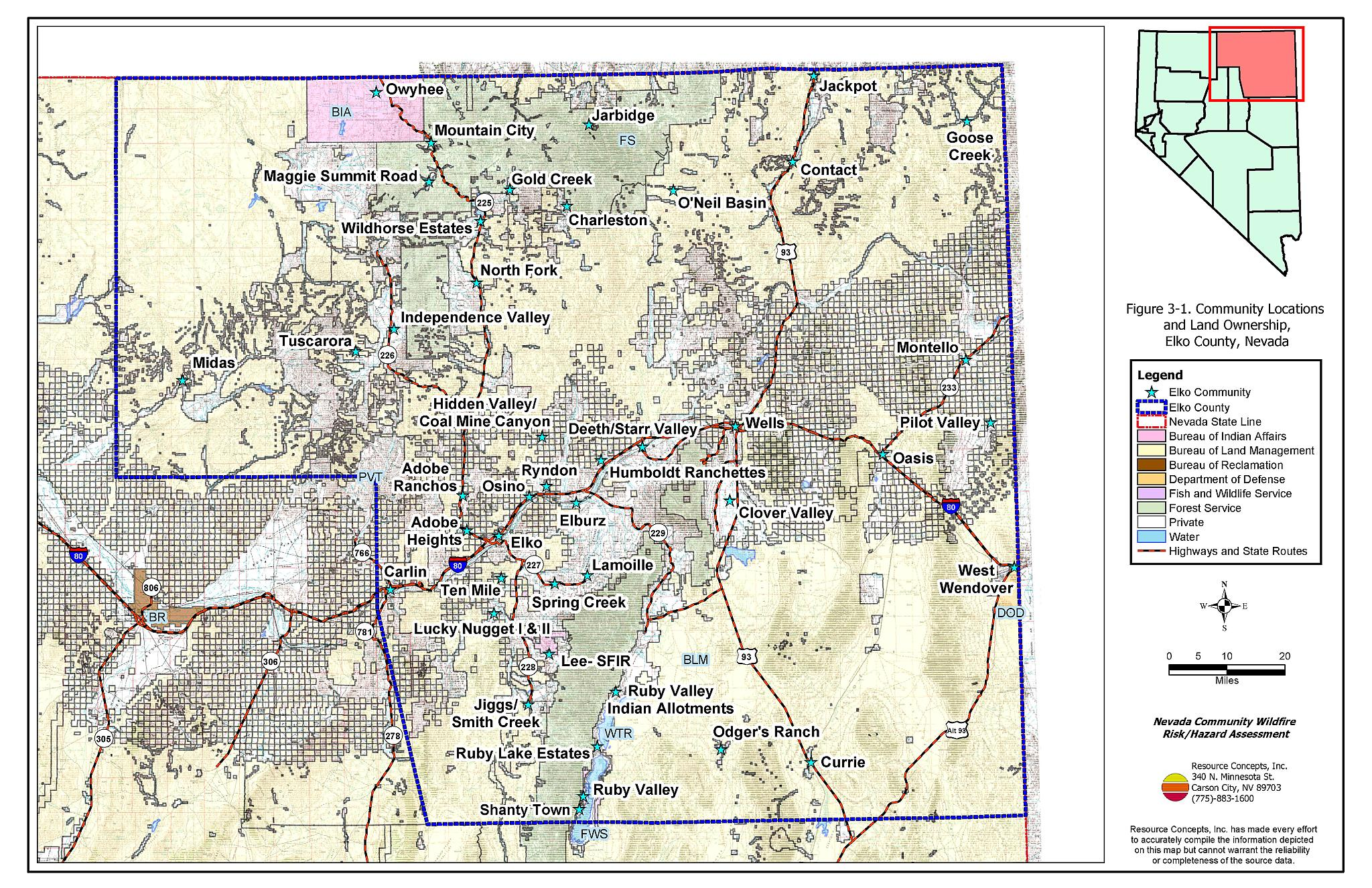 3 0 Description Of The County Elko County Fire Plan Nevada