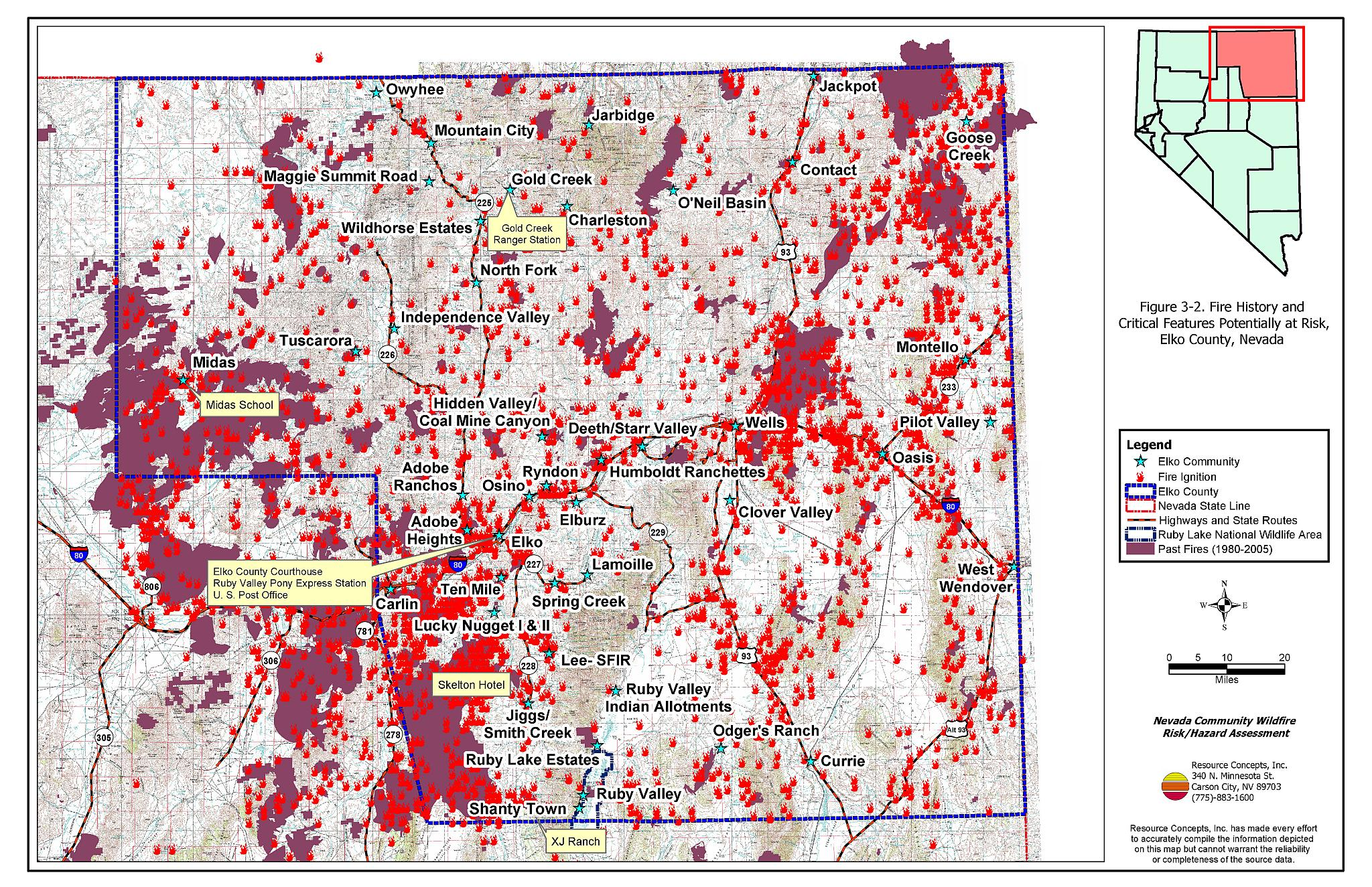 3.0 Description Of The County - Elko County Fire Plan - Nevada ... on crawford county missouri plat map, minnesota state bordering states map, nevada road conditions map, city of ely nv map,