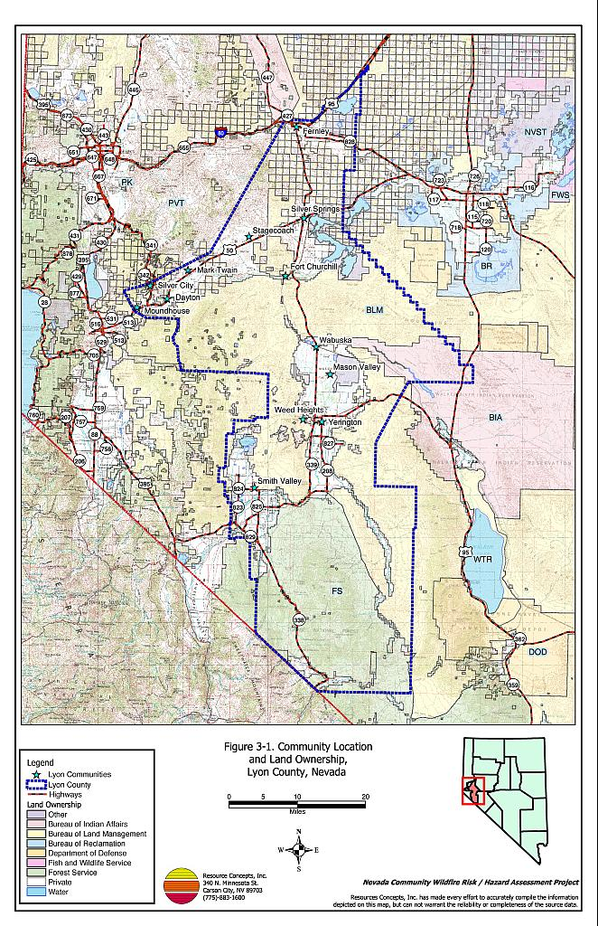 Table of Contents - Lyon County Fire Plan - Nevada Community