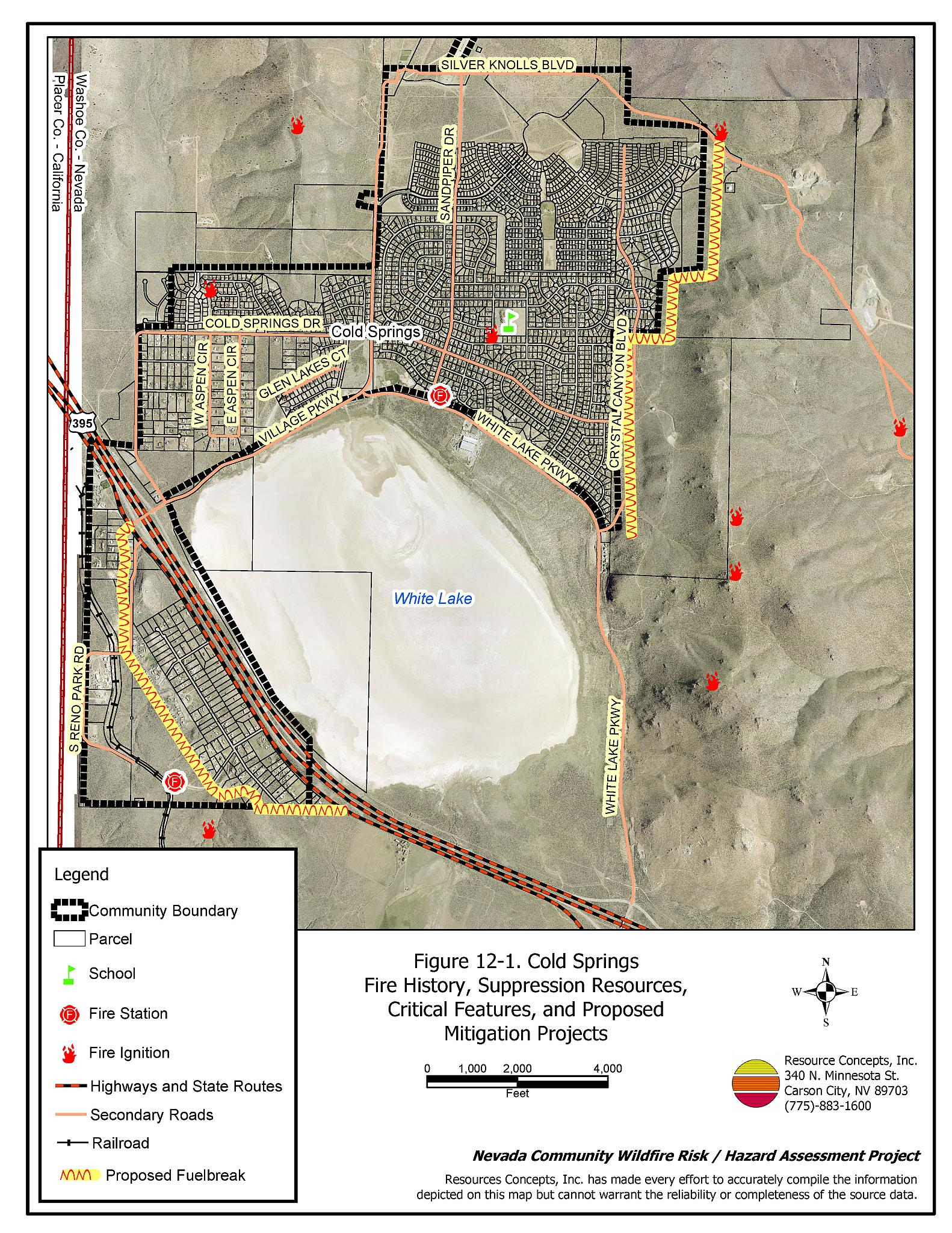 12 0 Cold Springs Washoe County Fire Plan Nevada Community